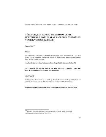 Full Text - PDF - İstanbul Ticaret Üniversitesi