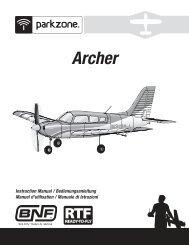 35401.1 PKZ Archer RTF BNF manual.indb - Robot MarketPlace