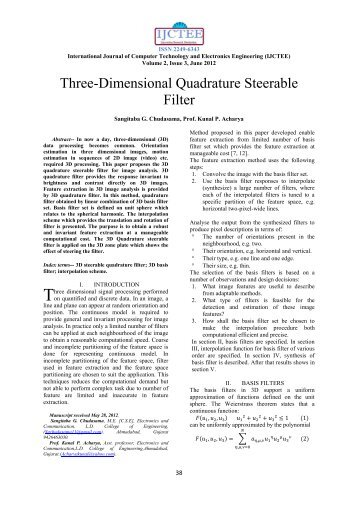Three-Dimensional Quadrature Steerable Filter - International ...