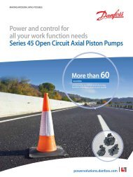 Series 45 Open Circuit Axial Piston Pumps - Sauer-Danfoss