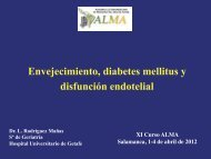 Envejecimiento, Diabetes Mellitus y Disfunción endotelial. Leocadio ...
