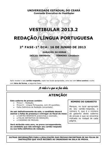 Prova de Conhecimentos Específicos - Português - Gabarito 4 - Uece