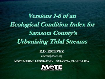 Versions 1-6 of an Ecological Condition Index for Sarasota County's ...