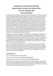 Programm 6. Workshop Rekonsobi Koblenz - Deutsche Gesellschaft ...