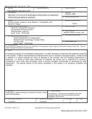 Download the TxDOT report (PDF) - Ferguson Structural ...