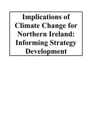 Implications of Climate Change for Northern Ireland: Informing - ukcip
