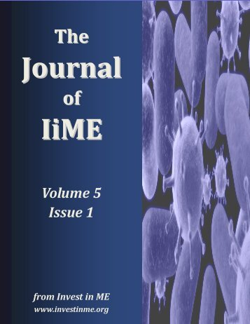 Journal of IiME Volume 5 Issue 1 - Invest in ME