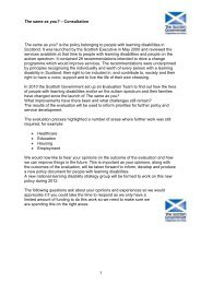 The Same as You consultation - Mental Welfare Commission for ...