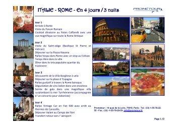 ITALIE - ROME.pdf - Prometour