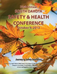 2013 South Dakota Safety and Health Conference Brochure