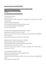 Programma del Corso di IMMUNOLOGIA