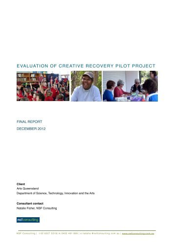 Creative Recovery Evaluation FINAL Report - Arts Queensland