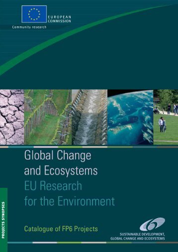 sustainable development, global change and ecosystems ... - d3m