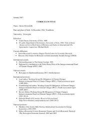 January 2013 CURRICULUM VITAE Name ... - Vista Analyse AS