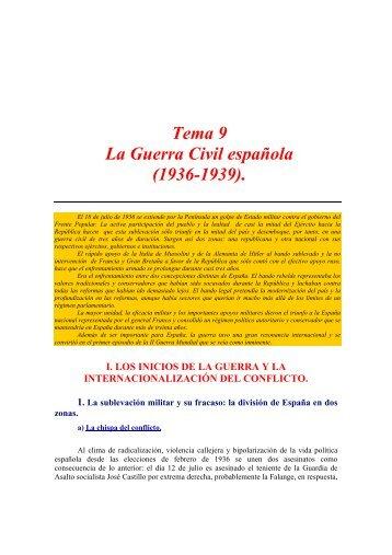 Tema 9 La Guerra Civil española (1936-1939).