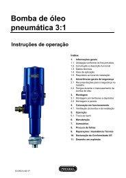 Bomba de óleo pneumática 3:1 - Pressol