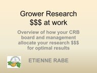 Grower Research $$$ at work - Citrus Research Board