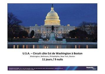 Escapade de Washington à Boston - Prometour