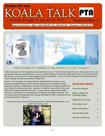 Koala Talk December 2011 - Cowlishaw Elementary School