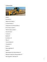 La Motoniveladora INDICE Introducción 3 Objetivos del Trabajo 4 ...