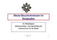Akute Bauchschmerzen im Kindesalter - TurnusDoc