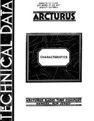 Arcturus tube data - Tubebooks.org