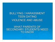 bullying/harassment/teen dating - Brevard Public Schools