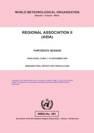 Regional Association II (ASIA) - E-Library - WMO