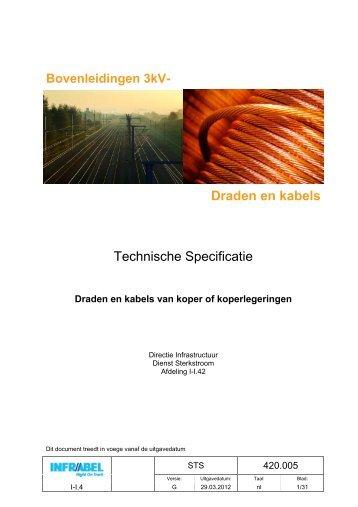 Draden en kabels Technische Specificatie - Infrabel