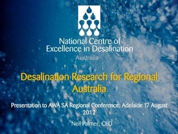 Neil Palmer - NCED - Australian Water Association