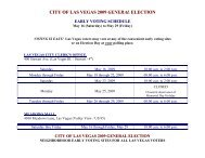 city of las vegas 2009 general election early voting schedule