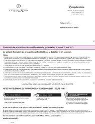 C1234567890 X X X Formulaire de procuration - Assemblée ...