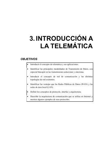3. INTRODUCCIÓN A LA TELEMÁTICA - PoliformaT - UPV