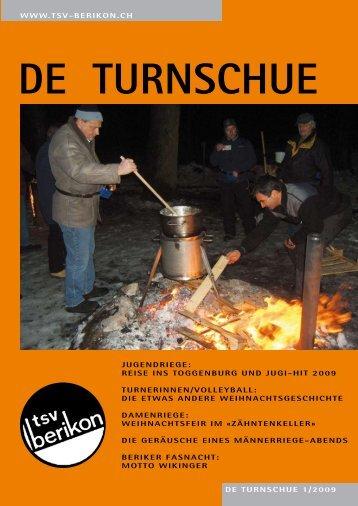 DE TURNSCHUE 1/2009 WWW.TSV-BERIKON.CH JUGENDRIEGE ...