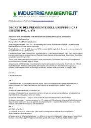 DECRETO DEL PRESIDENTE DELLA REPUBBLICA 8 GIUGNO ...