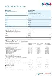 Anmeldeformular für GEWA-Aussteller auf ... - GEWA-Messe