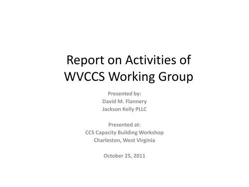 West Virginia CO2 Sequestration Working Group