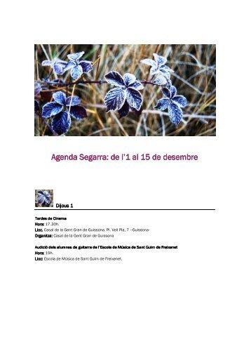 1a quinzena desembre.pdf - Consell Comarcal de la Segarra