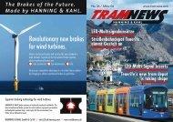 Revolutionary new brakes for wind turbines. - Hanning & Kahl