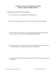 Writing Assignment Design Heuristic - at www.my.woodbury.edu.