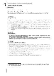 Gesetzliche Grundlagen Auszüge - Amt für Wirtschaft und Arbeit