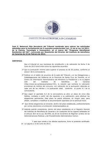 Valoraciones Provisionales de Solicitudes Admitidas - Instituto de ...