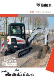 Brochure - Pelle compacte E26 - Bobcat.eu