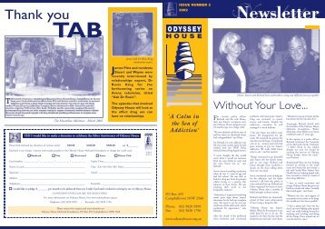 Odyssey House Newsletter 2002 Issue Number 2