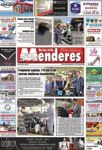 18 Kasım tarihli Küçükmenderes Gazetesi
