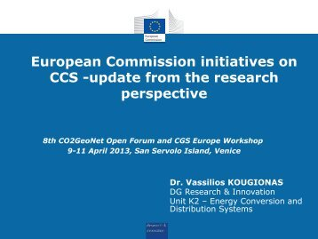 European Commission initiatives on CCS -update from the research ...