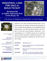 INDUSTRIAL LAND FOR SALE or BUILD-TO-SUIT - Warren County ...