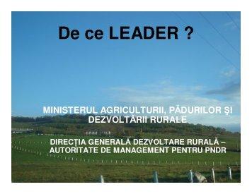 De ce LEADER ? - MADR
