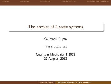 The physics of 2-state systems