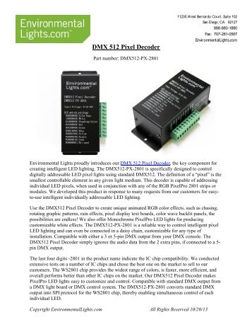 DMX 512 Pixel Decoder Manual - LED Lighting